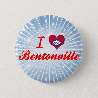 I Love Bentonville, Arkansas 6 Cm Round Badge