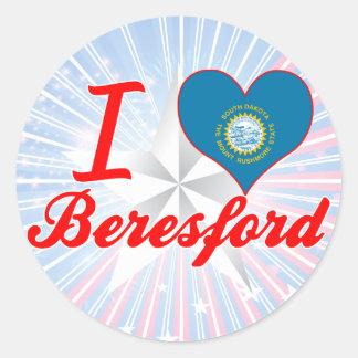 I Love Beresford, South Dakota Sticker