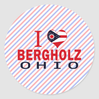 I love Bergholz, Ohio Round Sticker