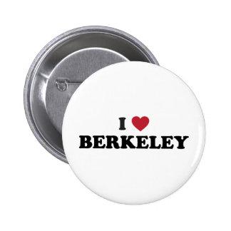 I Love Berkeley California 6 Cm Round Badge