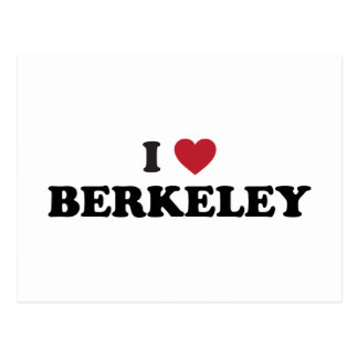 I Love Berkeley California Postcard