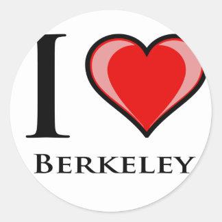 I Love Berkeley Classic Round Sticker