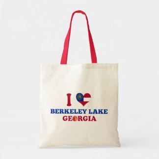 I Love Berkeley Lake Georgia Canvas Bags