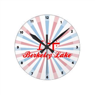 I Love Berkeley Lake, Georgia Round Wall Clocks