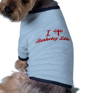 I Love Berkeley Lake Georgia Doggie T Shirt