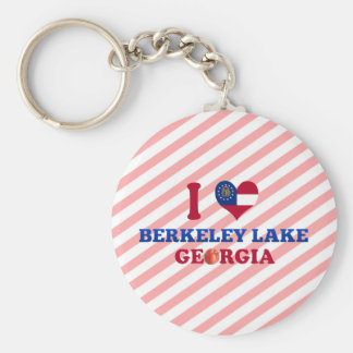 I Love Berkeley Lake Georgia Key Chain