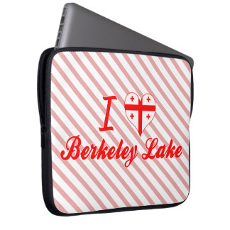 I Love Berkeley Lake, Georgia Laptop Sleeves
