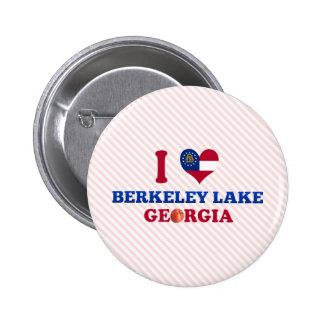 I Love Berkeley Lake Georgia Pinback Button