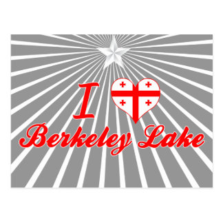 I Love Berkeley Lake Georgia Postcard