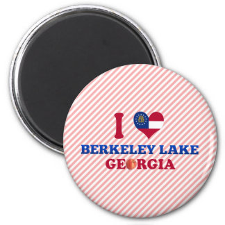 I Love Berkeley Lake Georgia Refrigerator Magnet