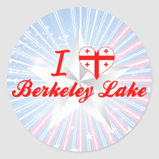 I Love Berkeley Lake Georgia Round Stickers