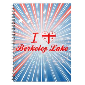 I Love Berkeley Lake Georgia Spiral Note Books