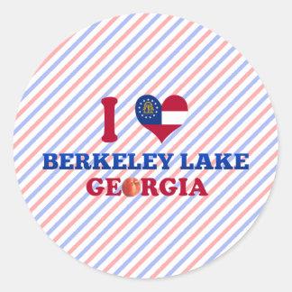 I Love Berkeley Lake Georgia Stickers