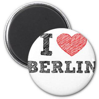 I Love Berlin 6 Cm Round Magnet