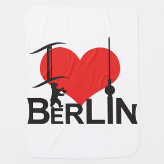 I Love Berlin baby cover Swaddle Blankets