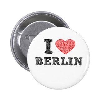I Love Berlin Pinback Buttons