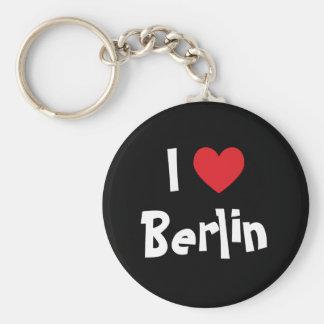 I Love Berlin Basic Round Button Key Ring