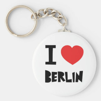 I love Berlin Basic Round Button Key Ring