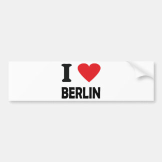 i love berlin bumper sticker