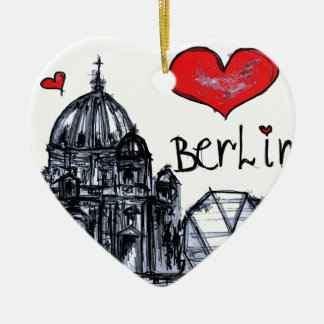 I love Berlin Ceramic Heart Decoration