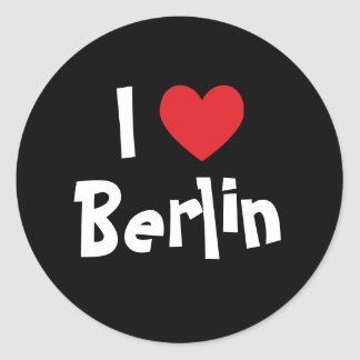 I Love Berlin Classic Round Sticker