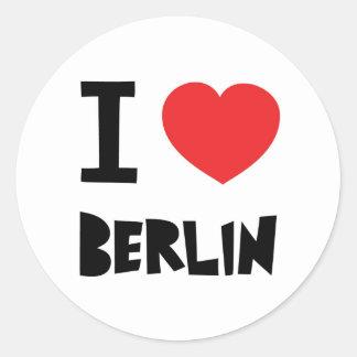 I love Berlin Classic Round Sticker