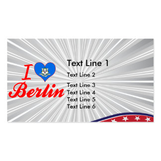 I Love Berlin, Connecticut Business Card Template