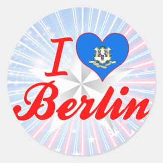 I Love Berlin, Connecticut Round Stickers