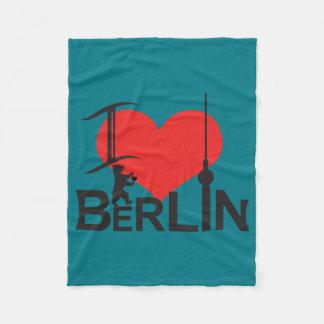 I Love Berlin Fleece cover Fleece Blanket