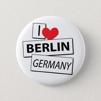 I Love Berlin Germany 6 Cm Round Badge
