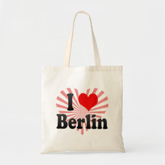 I Love Berlin, Germany. Ich Liebe Berlin, Germany Budget Tote Bag