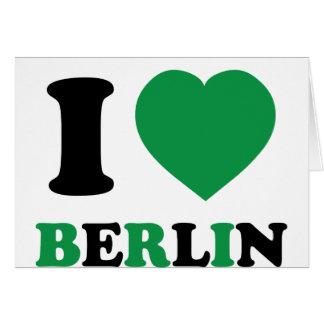 I Love Berlin Greeting Card