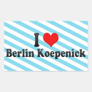 I Love Berlin Koepenick, Germany Stickers