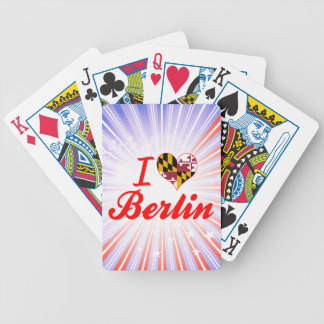 I Love Berlin Maryland Bicycle Poker Cards