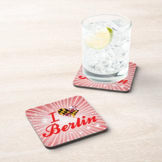 I Love Berlin Maryland Drink Coasters