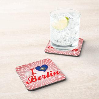 I Love Berlin New Hampshire Beverage Coasters
