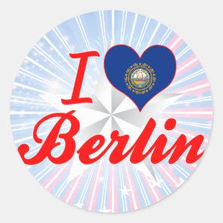 I Love Berlin, New Hampshire Stickers