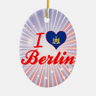 I Love Berlin, New York Christmas Tree Ornament