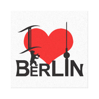i Love Berlin picture Stretched Canvas Prints