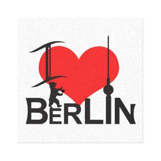 i Love Berlin picture Canvas Prints