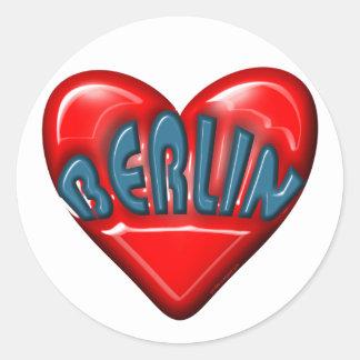 I Love Berlin Round Sticker
