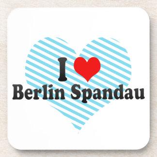 I Love Berlin Spandau Germany Beverage Coaster
