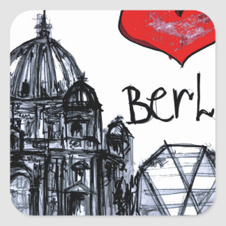 I love Berlin Square Sticker