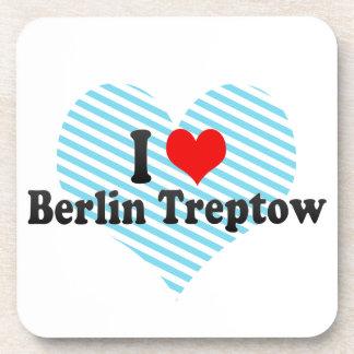I Love Berlin Treptow Germany Beverage Coasters