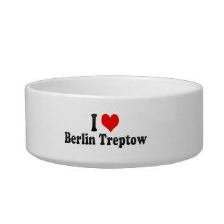 I Love Berlin Treptow, Germany Cat Food Bowls