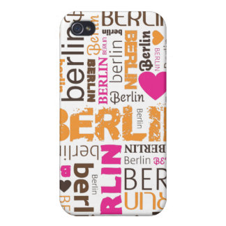 i love berlin typography pattern iphone case iPhone 4 cover