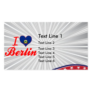 I Love Berlin, Vermont Business Card Template