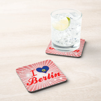 I Love Berlin Vermont Drink Coasters