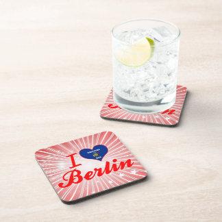 I Love Berlin Wisconsin Beverage Coasters