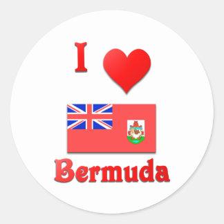 I Love Bermuda Classic Round Sticker